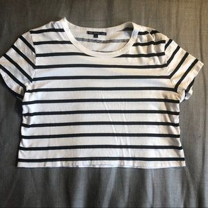 Truly Madly Deeply Off-White/Black Cropped Tee (S)